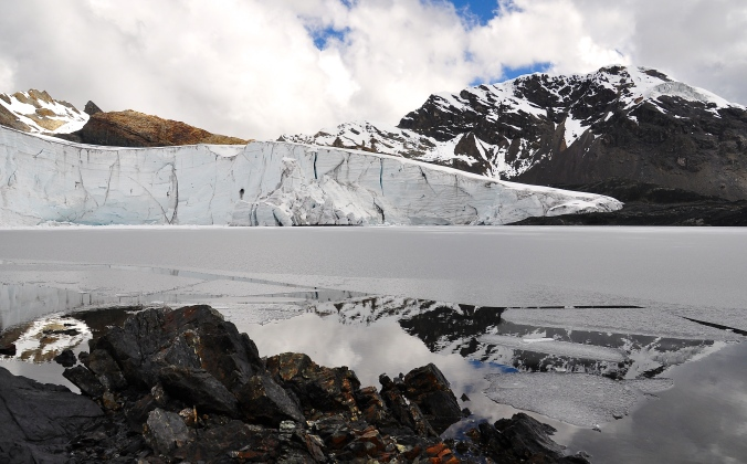 Receding glacier in Huascaran National Park
