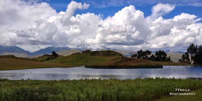 Laguna Wilcacocha and the Cordillera Blanca