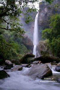 One of many huge waterfalls along the Routa de la Cascadas