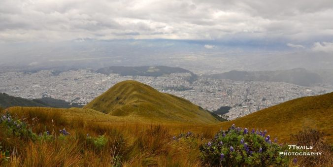 View of central Quito from Vulcan Pichincha