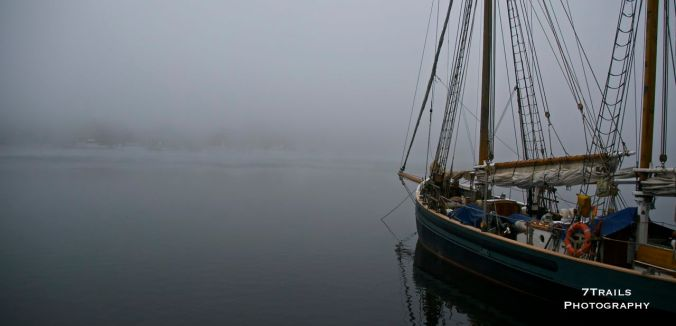 Boat on a Foggy Day (Stockholm)