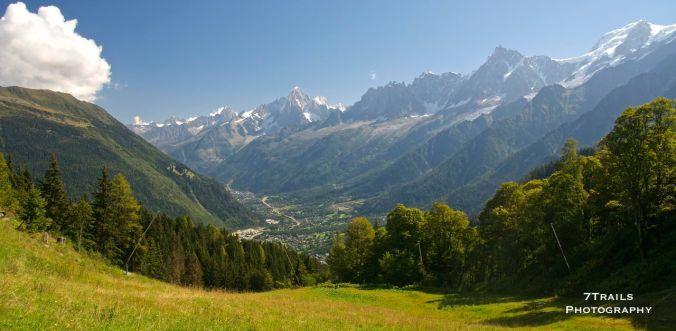 Chamonix from Col de Voza