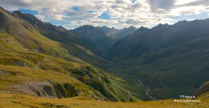 Val des Glaciers below Col de la Seigne