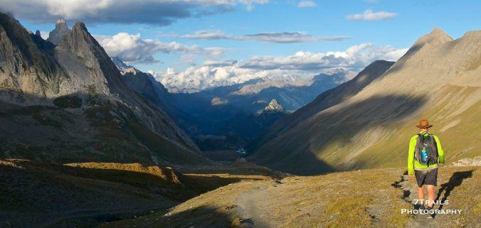 Descending Col de la Seigne