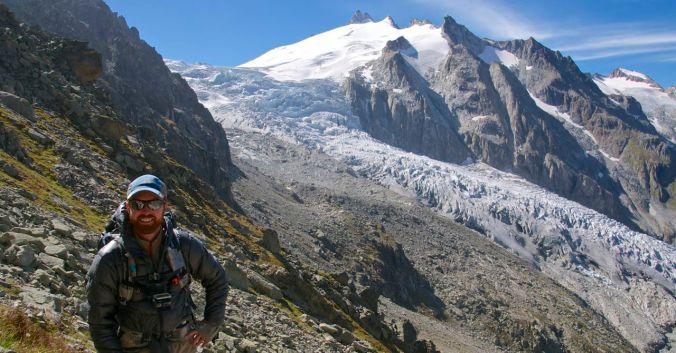 The Glacier du Trient below le Fenetre d'Arpette