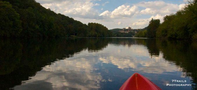 Kayaking down the Dordogne